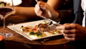 Abendessen im A-Rosa Sylt