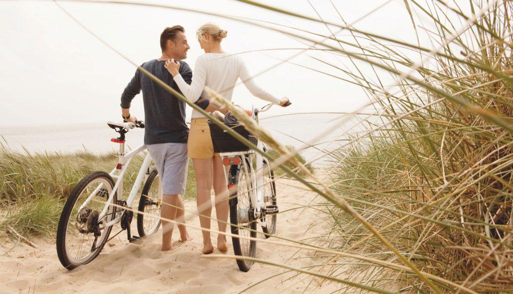 Fahrradfahren an der Nordsee