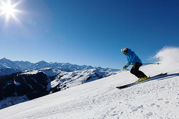 Skifahrer Alpen