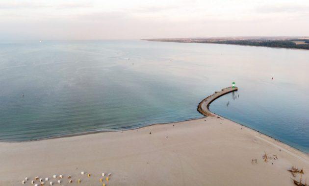 Travemünde Strand Vogelperspektive