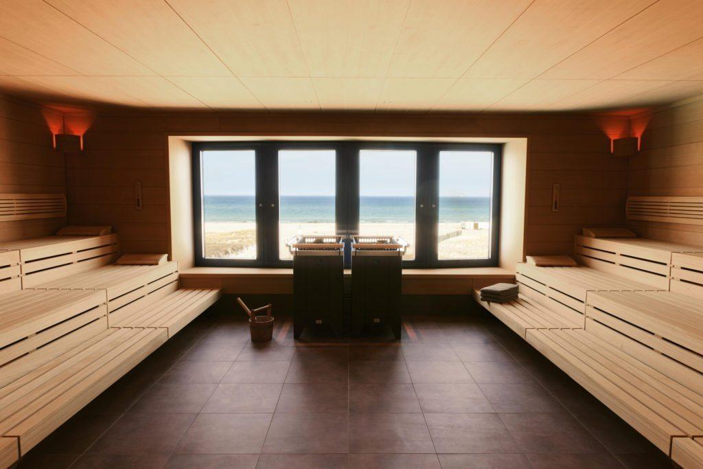 Sauna mit Meerblick Warnemünde