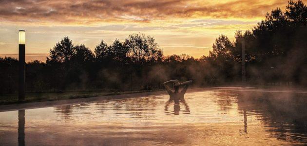 aja Bad Saarow Pool Sonnenuntergang