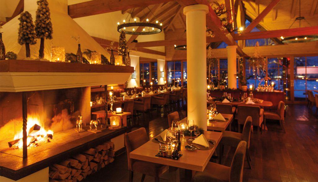 A-ROSA Kitzbühel Restaurant Kamin