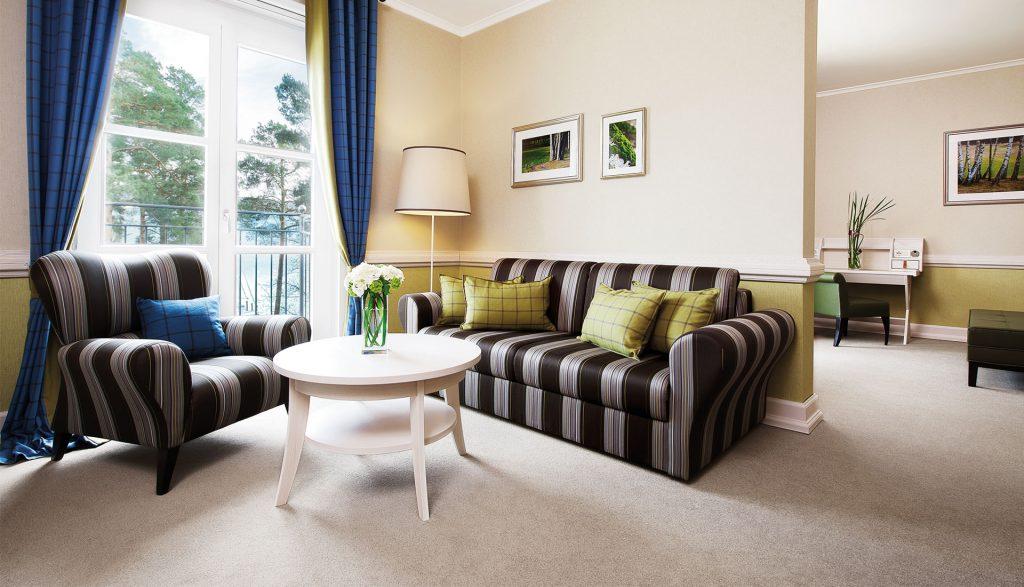 A-Rosa Scharmützelsee Corner Suite Wohnzimmer