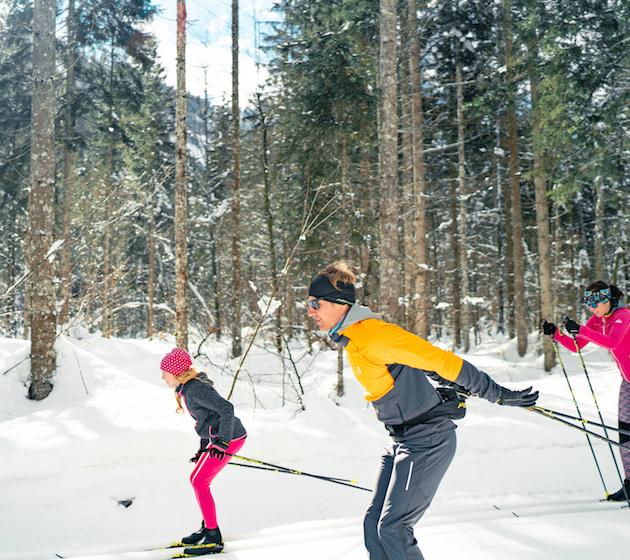 Familie Skifahren