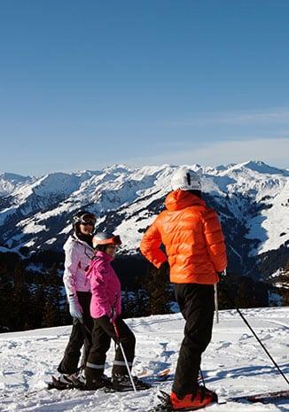 Skifahrer Kitzbühel