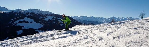 Skifahrer Alpen Kitzbühel