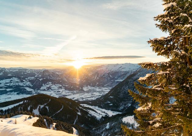 Ruhpolding Panorama Sonne